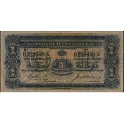 1918 Commonwealth of Australia One Pound Banknote