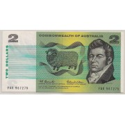 1966 Commonwealth of Australia Two Dollar Uncirculated Note