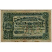 1918 Commonwealth of Australia Five Pound Banknote