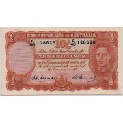 1949 Commonwealth of Australia Ten Shilling Banknote