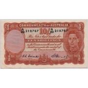 1949 Commonwealth of Australia Ten Shilling Banknote EF