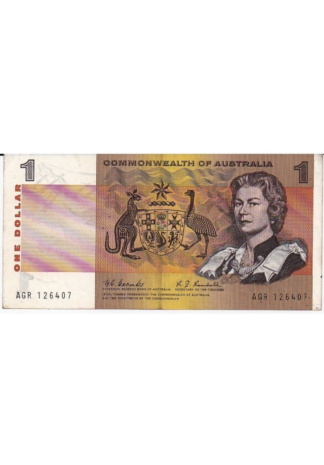 1968 Commonwealth of Australia One Dollar Banknote