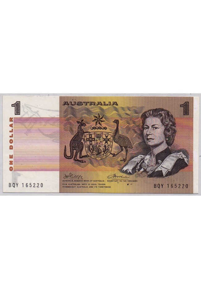 1972 Commonwealth of Australia One Dollar Banknote