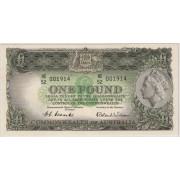 1953 Commonwealth of Australia QE11 One Pound Banknote