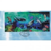 1998 Planet Ocean Mini Sheet FDC