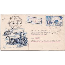 1957 AAT First Stamp Postmarked ANARE Macquarie Island FDC