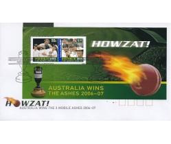 2007 Howzat - Australia Wins the Ashes FDC
