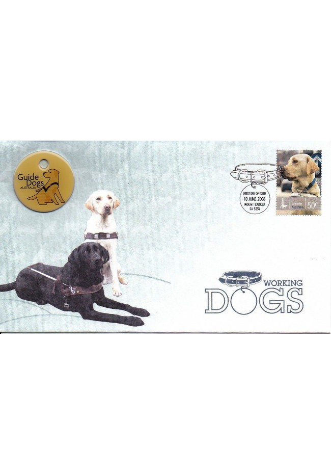 2008 Working Dogs - Guide Dog Limited Edition FDC