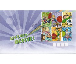 2009 Let's Get Active FDC - block of 6