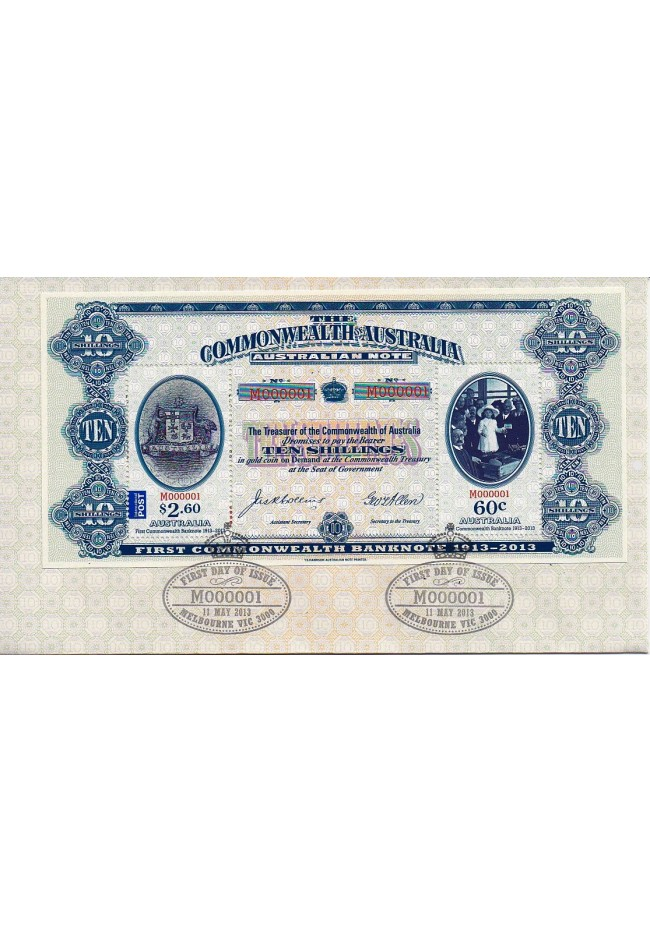 2013 First Commonwealth Banknote FDC