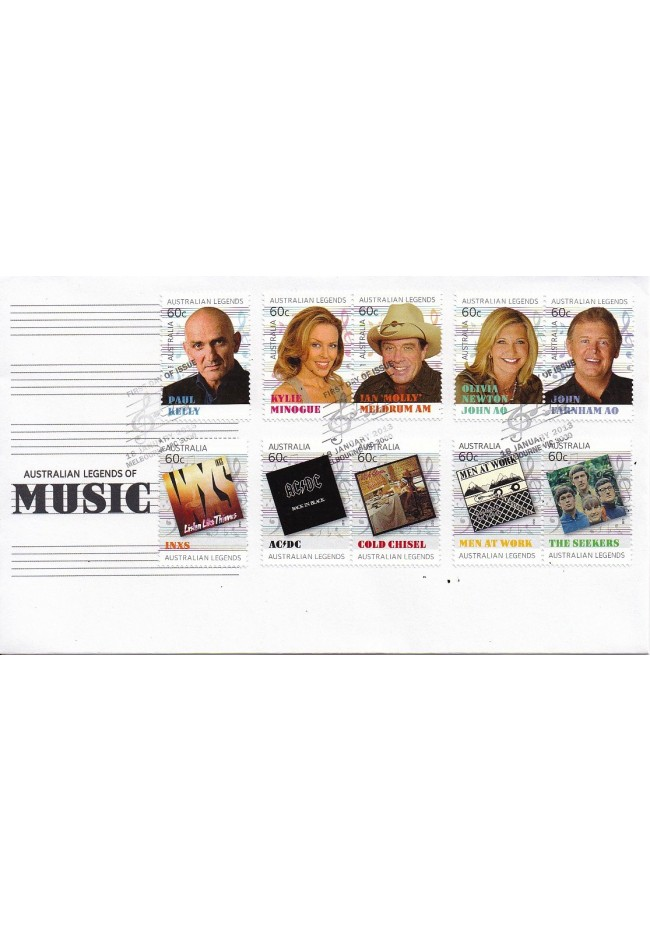 2013 Australian Legends of Music FDC