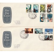 1967 AAT Definitives FDC's Mawson Station Cancellation