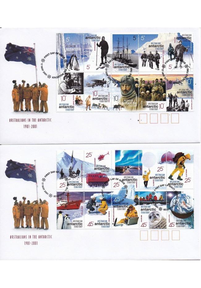 2001 Australians in the Antarctic Set of 2 FDC's