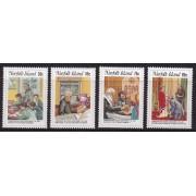 1984 Norfolk Island Commemorating George Hobbs Stamp Set of 4