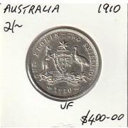 1910 Australian Florin - VF