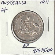 1911 Australian Florin - EF