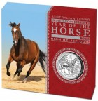 2014 Year of the Horse 1oz Silver Proof High Relief Coin
