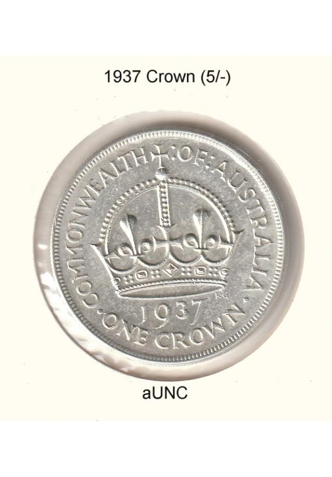1937 Australian Crown - aUNC