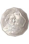 1970 Australian Captain Cook 50 Cent Coin