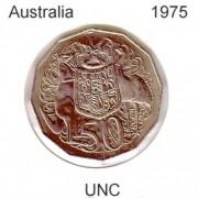 1975 Australian 50 cent Uncirculated Coin