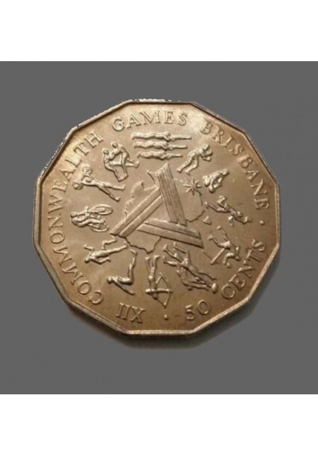1982 Australian 50 cent Mint Roll - Commonwealth Games