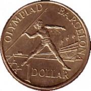 1992 Barcelona Olympic $1 Coin