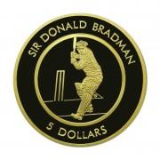 1996 Five Dollar Proof Coin - Sir Donald Bradman