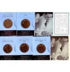 1998 Howard Florey Dollar Coin Set of 5 Mintmarks