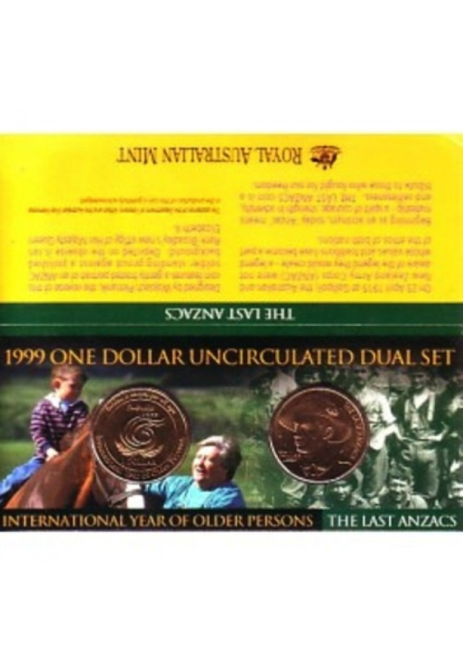 1999 One Dollar Uncirculated Dual Set