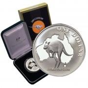 2000 1oz Fine Silver Proof Kangaroo Coin