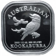 2003 1/2oz Silver Proof Kookaburra coin