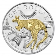 2003 $1 1oz Silver Kangaroo Selectively Gold Plated Proof Coin