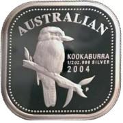 2004 Australian 1/2oz Silver Proof Kookaburra