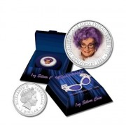 2006 $1 Dame Edna Everage 50th Anniversary 1oz Coloured Silver Proof Coin