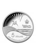 2006 Melbourne - Queen's Baton Relay $5 Silver Proof Coin