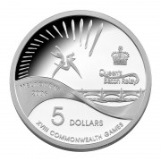 2006 Melbourne - Queen's Baton Relay $5 Silver Proof Coin