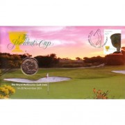 2011 The Presidents Cup $1 Stamp & Coin Cover