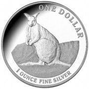 2012 $1 Fine Silver Proof Coin – Mareeba Rock-Wallaby
