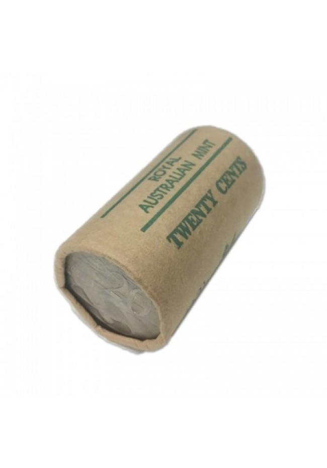 1980 Australian 20 Cent Mint Roll