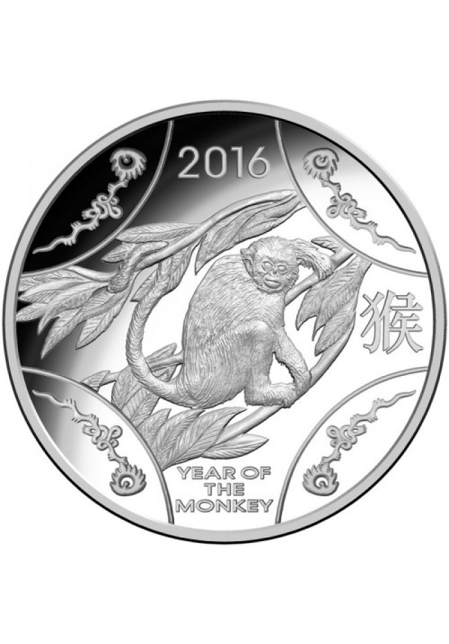 2016 $1 Fine Silver Proof Coin - Year of the Monkey