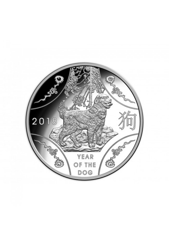 2018 $1 Fine Silver Proof Coin - Year of the Dog