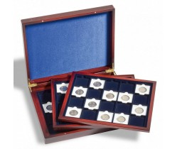 Presentation case VOLTERRA TRIO de Luxe, for 60 QUADRUM Coin Capsules
