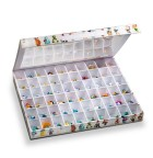 Collector box surprise with 60 compartments for surprise-egg toys