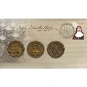 2010 Saint Mary MacKillop Stamp and Medallions Cover