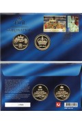 2013 Diamond Jubilee of the Coronation of QE11 Stamp & Medallion Cover