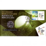 2015 Cricket World Cup Stamp & Coin Cover