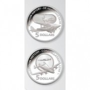 2009 $5 Silver Proof Coin Masterpieces in Silver – Aviation Series