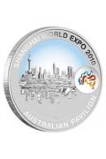 2010 Shanghai World Expo 1oz Shanghai Skyline Silver Coin