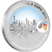 2010 Shanghai World Expo 1oz Shanghai Skyline Silver Coin