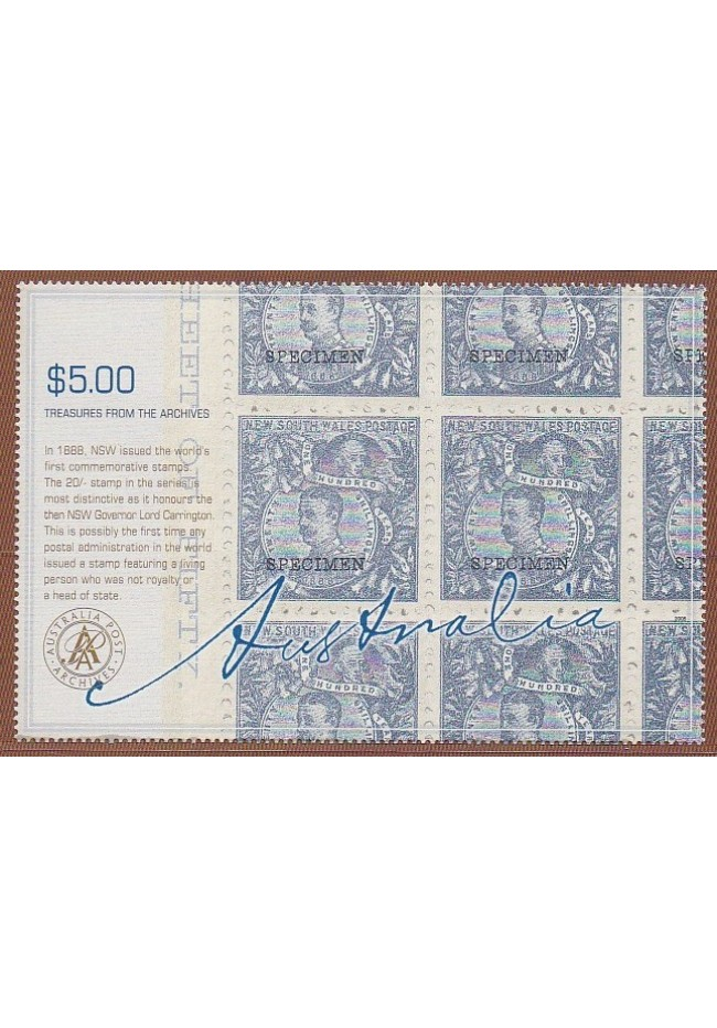 2005 Treasures From the Archives $5 stamp